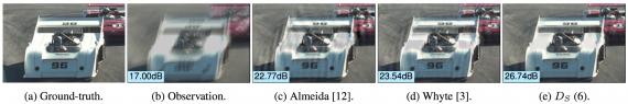 Image de-blurring method