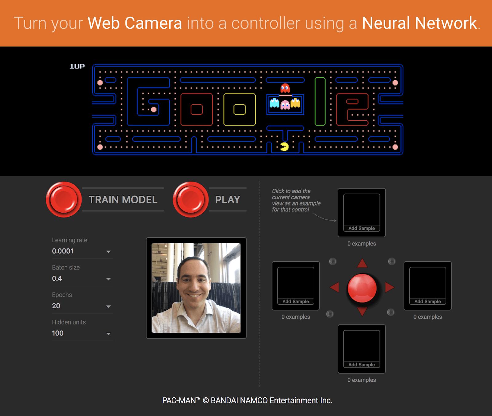 Превратите свою веб-камеру в пульт управления для PAC-MAN с помощью нейронной сети