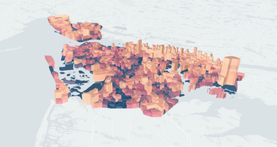 Population map of New York City