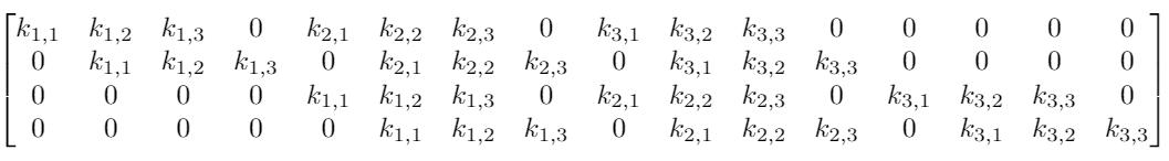 матрица весов сверточной нейронной сети