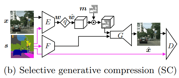 selective generative compression