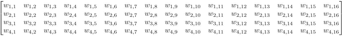 матрицы весов