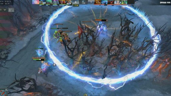 dota 2 bot beat team of professionals