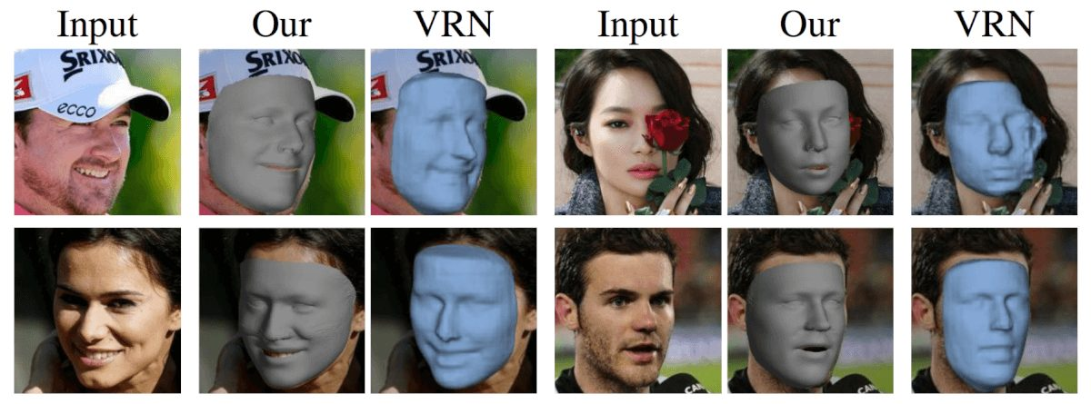 3D reconstruction results comparison to VRN by Jack- son et al. on the popular CelebA dataset