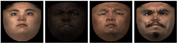 Facial textures synthesized by GAN
