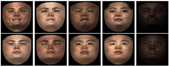 Synthesizing realistic facial expressions from photographs