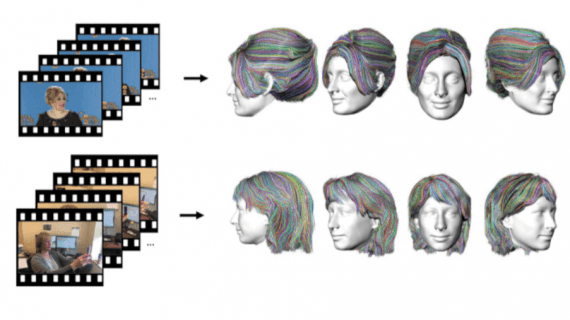hair reconstruction from video