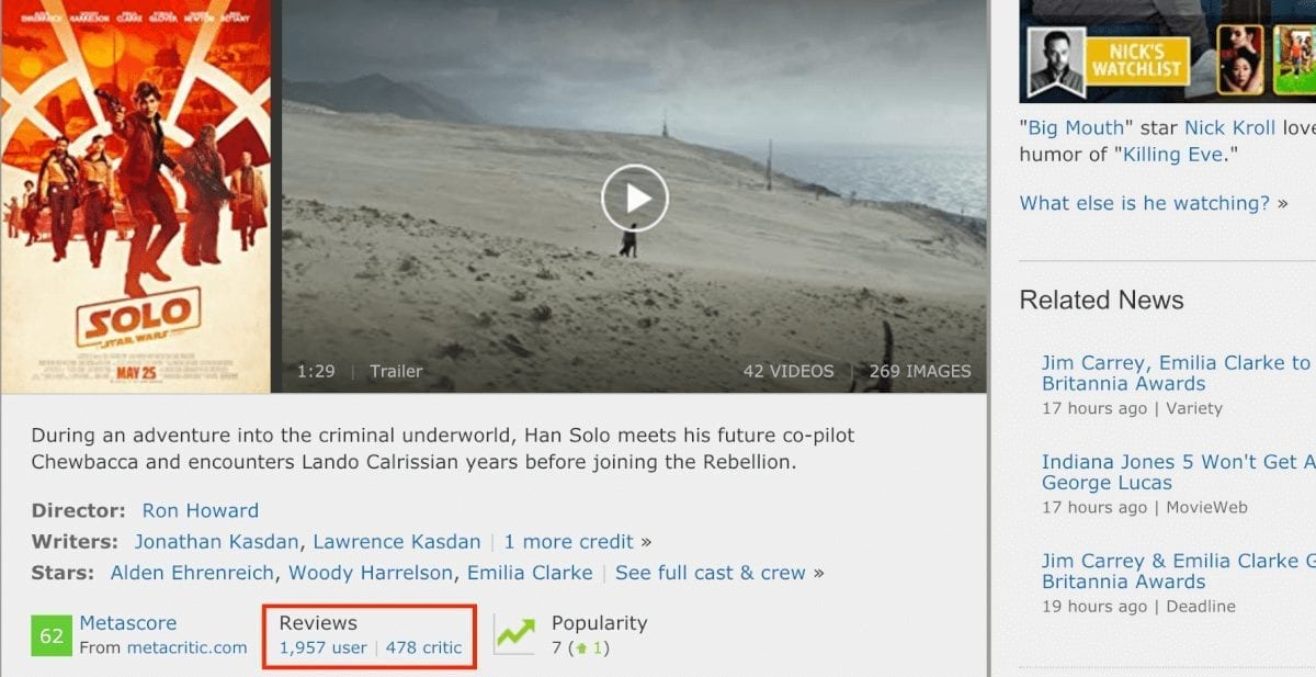 imdb reviews sentiment