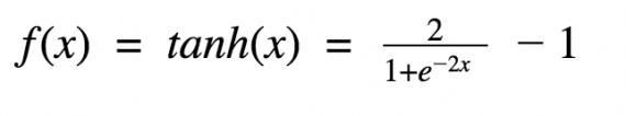Гиперболический тангенс функция активации