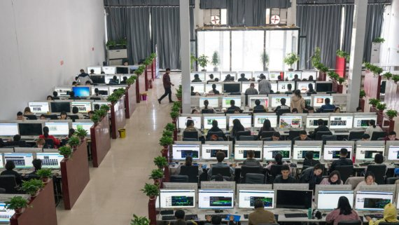 AI china фабрики разметки данных для нейросетей