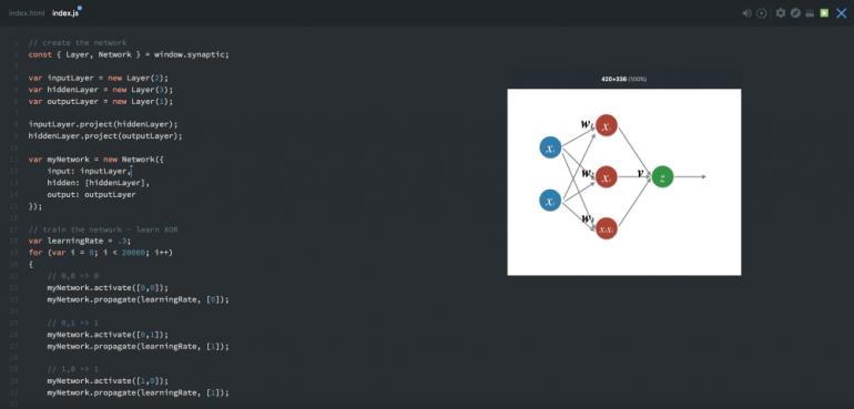 нейронная сеть на javascript