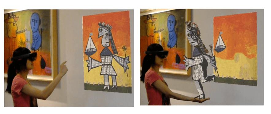 нейронная сеть анимация в AR 3D