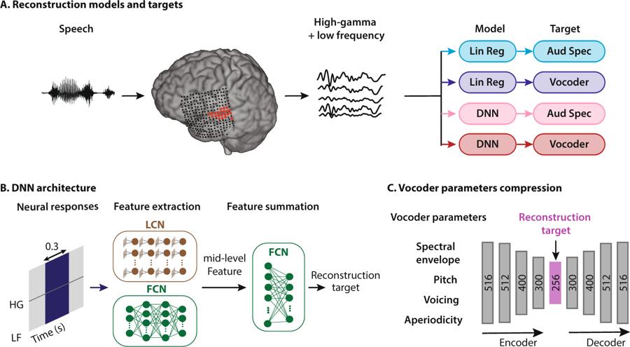 Схема алгоритма восстановления речи