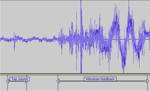 Звуковой паттерн, сформированный при нажатии