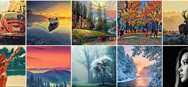 Пример сгенерированных изображений с использованием Prisma