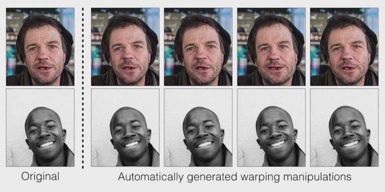 Автоматически сгенерированные манипуляции с фотографиями